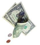 滴下的货币 库存照片