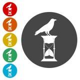 滴漏和乌鸦传染媒介象 库存例证