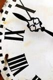 滴答作响的时间古色古香的老时钟时间管理概念 免版税库存图片