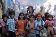 漂亮的孩子坏的重点微笑甜点 免版税图库摄影