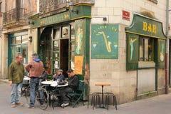 漂泊生活 典型的咖啡馆酒吧 浏览 法国 免版税库存照片