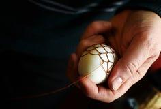 漂泊老牌架线的复活节彩蛋 免版税库存图片