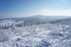 漂泊Erzgebirge的看法 免版税库存照片
