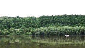 漂流在德诺尔河的筏 股票视频