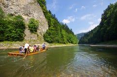漂流在Dunajec河,波兰 免版税库存照片