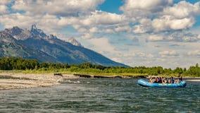 漂流斯内克河在怀俄明 免版税库存图片