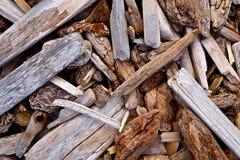 漂流木头片断背景  库存照片