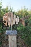 漂流木头鱼 免版税库存照片