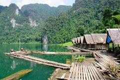 漂流村庄的竹子 免版税图库摄影