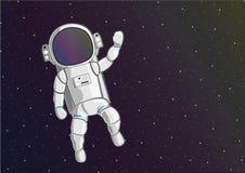 漂浮在外层空间的宇航员 库存例证