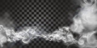 漂浮在天空中的烟 皇族释放例证
