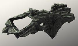 漂浮在天空中的石头片断 免版税图库摄影