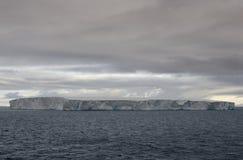 漂浮在布兰斯菲尔德海峡的巨大的表格冰山在南极半岛的北一角附近 库存图片