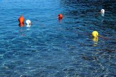 漂浮在海的浮体 库存图片