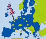 漂移从欧盟的英国 库存照片