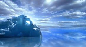漂移的冰山 免版税库存照片