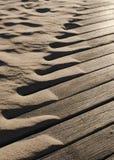 漂移的海滩沙子摘要 免版税库存照片
