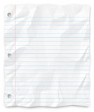 漏洞写被排行的纸张被猛击的学员三 库存图片