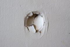 漏洞墙壁 免版税图库摄影