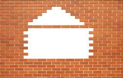 漏洞老墙壁白色 免版税库存照片