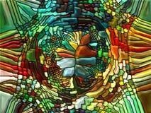 演变的彩色玻璃 免版税图库摄影