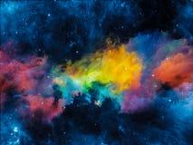 演变的星云 库存照片