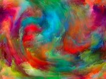 演变的油漆 库存图片
