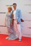演员与他的妻子Tatiana的Dmitry Dyuzhev 库存图片
