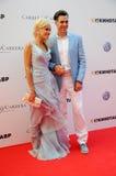 演员与他的妻子Tatiana的Dmitry Dyuzhev 免版税库存照片
