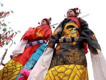 演员古老衣物街道穿戴 免版税图库摄影