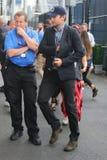 演员布莱德利・古柏为人的决赛到达了美国公开赛2015年 库存照片