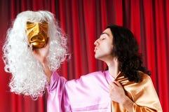 演员概念被屏蔽的剧院 免版税库存照片