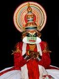 演员舞蹈kathakali tradional 库存图片