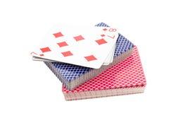 演奏二的卡片组 免版税库存照片