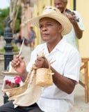 演奏传统音乐的音乐家在哈瓦那 库存照片