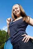 演奏体育运动的女孩 免版税库存图片