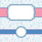 演奏儿童框架无缝的样式背景 免版税库存图片