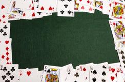 演奏卡片框架 库存图片