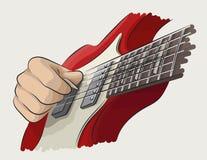 演奏吉他彩色插图 库存图片