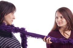 演奏围巾二的女孩 库存图片