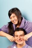 演奏土耳其年轻人的夫妇 库存图片