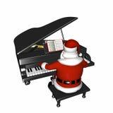 演奏圣诞老人的钢琴 库存照片