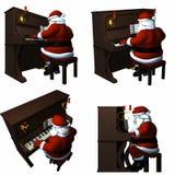 演奏圣诞老人的钢琴 免版税图库摄影