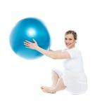 演奏孕妇的球执行 库存图片