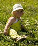 演奏小孩的草甸 库存图片
