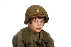演奏战士年轻人的男孩 库存图片