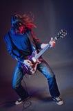 演奏摇滚明星的音乐会 库存照片