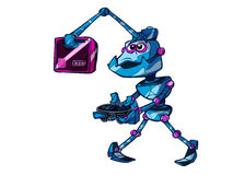 演奏机器人录影的比赛 库存例证