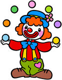 演奏球的小丑 库存图片