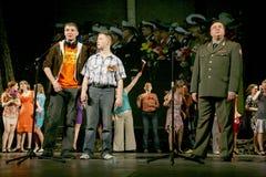 演奏的观众-第二次世界大战的退休人员、年长退伍军人和他们的亲戚 库存图片